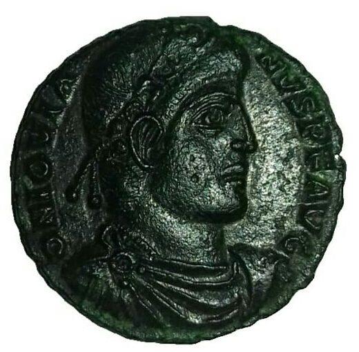 5 monnaies romaines en cuivre (n°2)