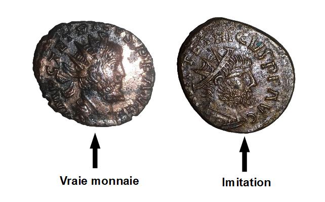 Reconnaitre une fausse monnaie romaine